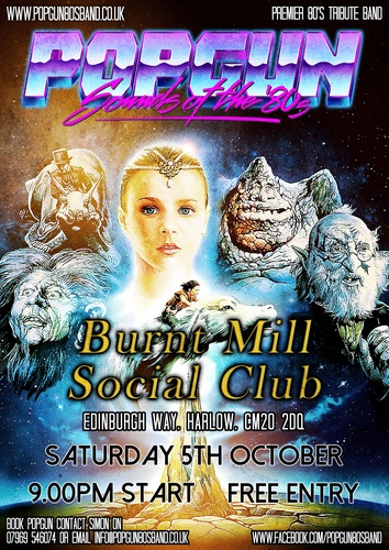 Popgun-80s-Burnt Mill Social Club 10/5/2019