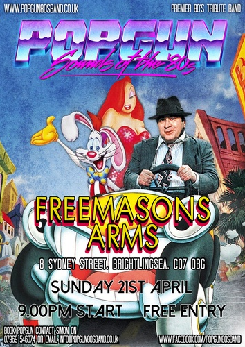Popgun-80s-Freemasons Arms 4/21/2019