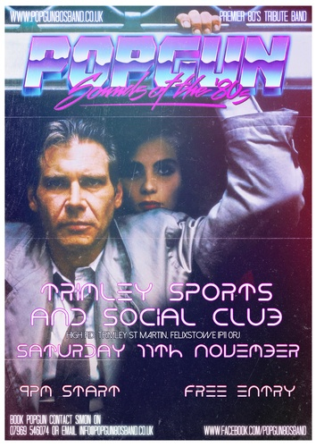 Popgun-80s-Trimley Sports & Social Club 11/11/2017