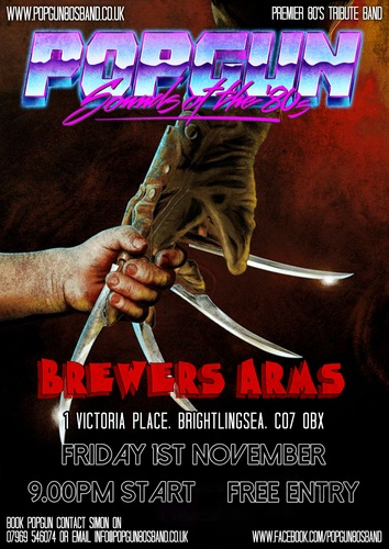 Popgun-80s-Brewers Arms 11/1/2019