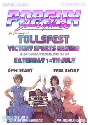 Popgun-80s-Victory Sports Ground Tollesbury 7/14/2018