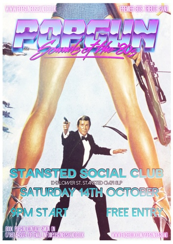 Popgun-80s-Stansted Social Club 10/14/2017