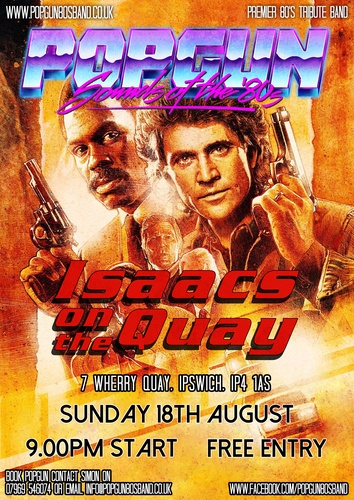 Popgun-80s-Isaacs on the Quay 8/18/2019