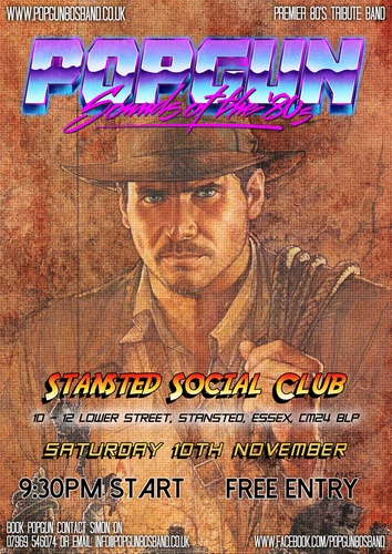 Popgun-80s-Stansted Social Club 11/10/2018