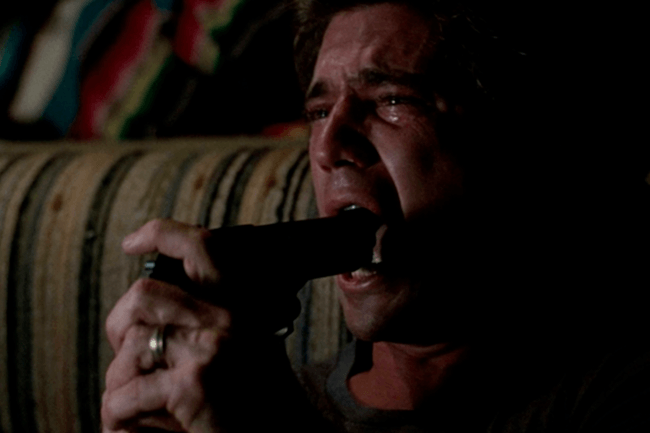 Loaded Weapon   How Mel Gibson risked his life for this scene in Lethal Weapon